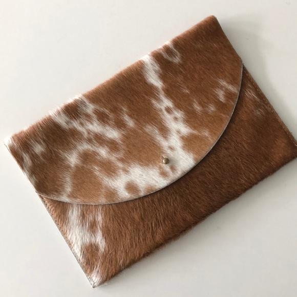 9526397a6 primecut Bags | Envelope Clutch Brown Real Cowhide | Poshmark